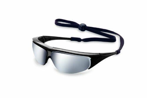 Uvex 11150354 Millennia Safety Eyewear, Black Frame, Silver Mirror Ultra-Dura Hardcoat Lens ()