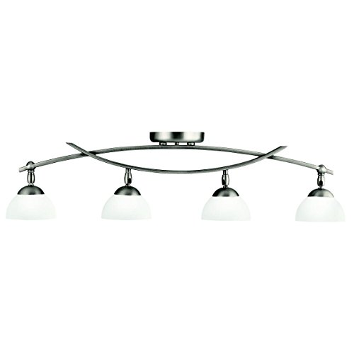 Kichler 42164AP Bellamy 4-Light Rail-Light in Antique Pewter - Monte Carlo Semi Flush