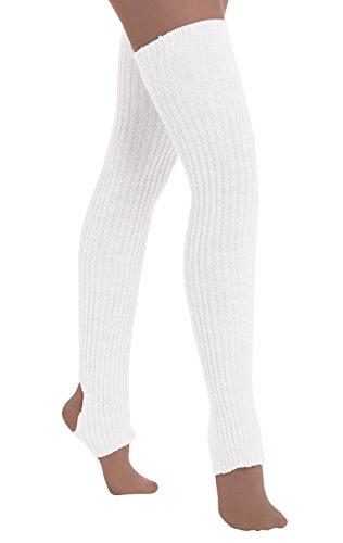xtra-long stirrup leg/thigh warmers (White) ()