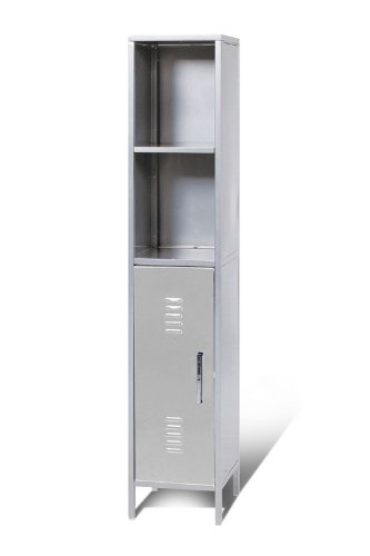 Kid's Locker Collection Silver Storage Tower Locker