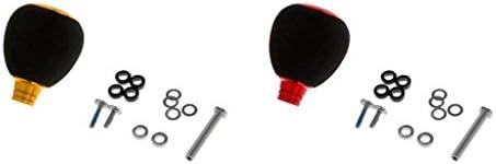 Tachiuwa フィッシング リールハンドル 釣りリール ハンドル ノブ グリップ 交換用 耐久性 軽量 丈夫 2セット