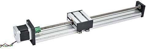 DJY-JY Linearführungsschlitten, Aluminiumlegierung Linearführungsschiene Slide-Kugelgewindebewegungstisch 700mm Nutzhub (1204)