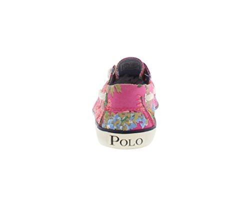 Polo Ralph Lauren Ungar Sander Mode Sneaker (barn / Litet Barn / Big Kid) Rosa Blommor