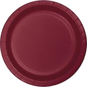 Burgundy 10-Inch Paper Plates 24 Per Pack