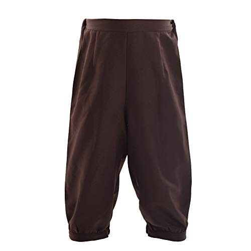 BLESSUME Retro Colonial Pants Renaissance Mens Knicker Pants Breeches (Brown, S)]()
