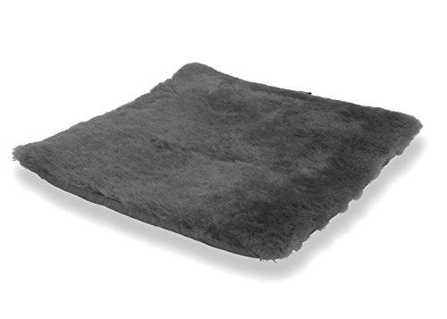 Sitzkissen Lammfell anthrazit grau (Rollstuhlauflage Katzenbett)