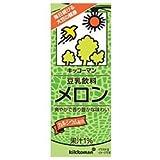 キッコーマン 豆乳飲料 メロン 200ml紙パック×18本入×(2ケース)