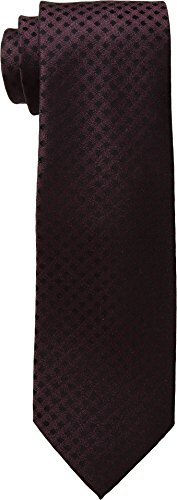 MICHAEL Michael Kors Mens Gingham Solid Tail Burgundy One - Kors Burgundy Michael