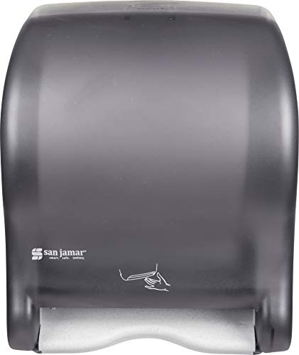 San Jamar T8400TBK Smart Essence Electronic Roll Towel Dispenser, 11.8w x 9.1d x 14.1''h, Black, Plastic by San Jamar (Image #3)