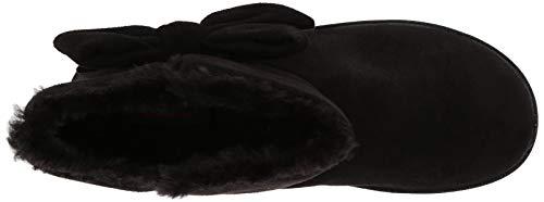 Black Microfiber Boot with Bow Women's Black Skechers Slipper Cozy Campfire 8RpwC6