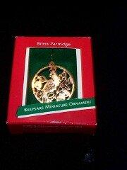 Hallmark Brass Partridge 1989 Miniature Ornament
