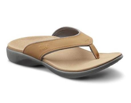 Dr. Comfort Womens Shannon Diabetic Orthotic Thong Slipper: Camel 8 (C/D) (Best Dr. Comfort Ortho Shoes Women)