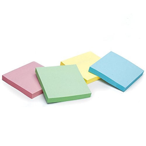 Redi-Tag Pop-Up Notes, 100 Sheet Pads, 3x3 Inches, Pastel Colors, 12 Pads/Pack, 1200 Total Sheets (23715)