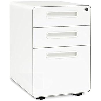 Amazon Com Poppin White Aqua Stow 3 Drawer File