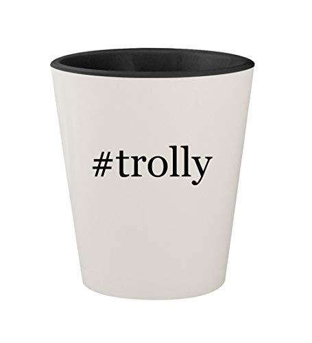 #trolly - Ceramic Hashtag White Outer & Black Inner 1.5oz Shot Glass ()