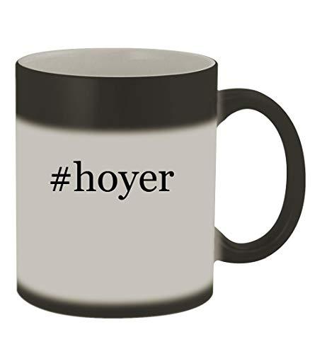 #hoyer - 11oz Color Changing Hashtag Sturdy Ceramic Coffee Cup Mug, Matte Black