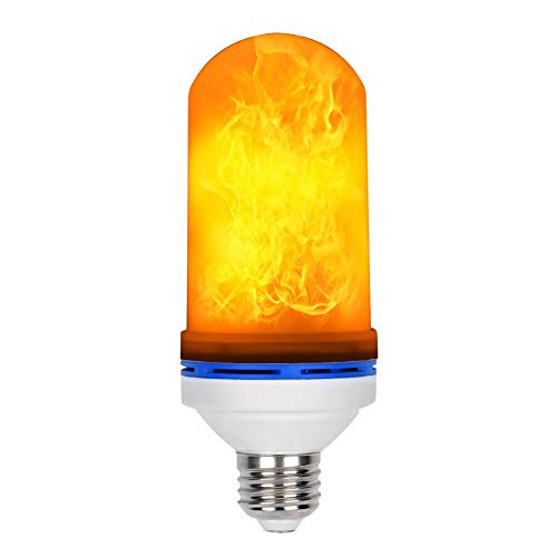 Loveishere LED Flame Effect Fire Light Bulbs- 2 Modes E26 LED Flame Effect Fire Light Bulbs Flickering Fire Atmosphere Decorative Lamps for Hotel/Bars/Home Decoration/Restaurants