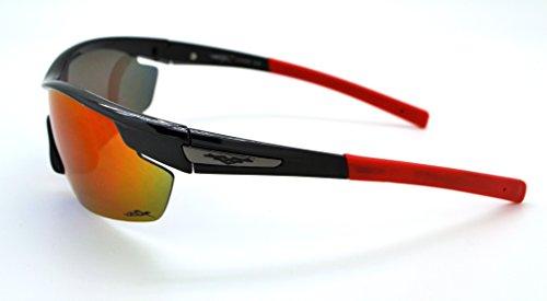 VertXmasculinepolarisésdes lunettes desoleilSportCyclismecourseextérieure.-Cadrenoir.Lentillebleu. aAenJCyS