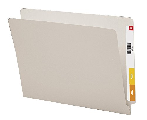 Smead Colored End Tab File Folder, Shelf-Master Reinforced Straight-Cut Tab, Letter Size, Gray, 100 per Box (25310) Photo #2