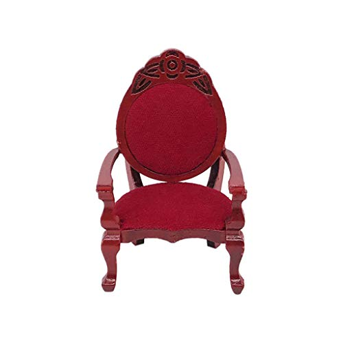 Meidexian888 Kids Pretend Play Toys, Vintage Furniture Carved Chairs, 1:12 Mini Dollhouse for Toddlers Inspires Imagination