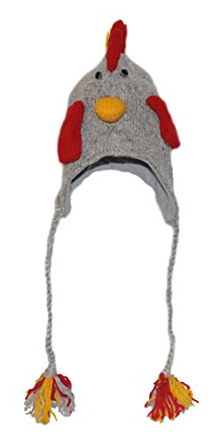 Rooster knitted Animal Hat Child - 40 different Animals - child or adult size (Adult Rooster Costume)
