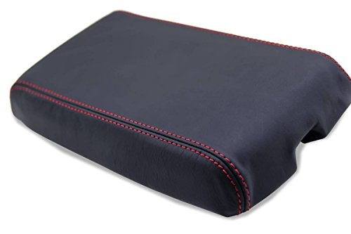 Chevrolet Camaro Center Console Armrest Synthetic Leaher Cover Black, Red Stitch For ()
