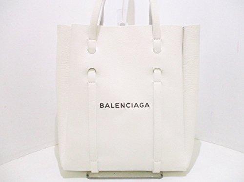 (バレンシアガ) BALENCIAGA トートバッグ エブリデイトートXS 白×黒 489813 【中古】 B07FQHT46Q