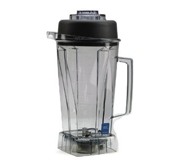 Vitamix 212-1003 756 64 oz Commercial NSF Container with Ice Blade and Lid, 64oz, Black ()