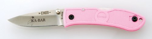 KA-BAR Mini Dozier Folding Hunter Knife - Pink