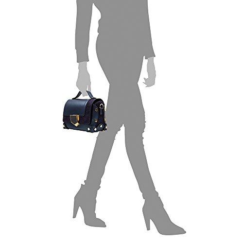 à main ITALY Sac Fermeture ARTEGIANI Bleu RUGA véritable Vera Made Bandoulière FIRENZE BLEU pelle 23x15x12 femme cuir exclusive cm et Sac cuir authentique en de italiana en luxe suède Couleur in BntExTx