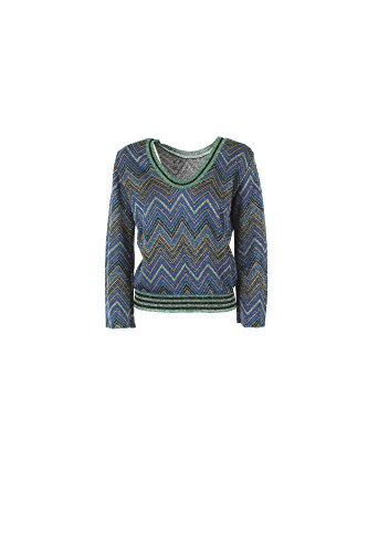 Maglia Donna Kaos Twenty Easy L Blu Hp3fp004 1/7 Primavera Estate 2017