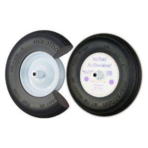 Marathon 00001 16'' Ribbed Flat Free Wheelbarrow Tire by Marathon Industries Inc