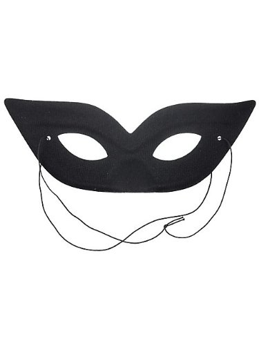 Black Harlequin Half Mask (Spirit Harlequin Black Mask)