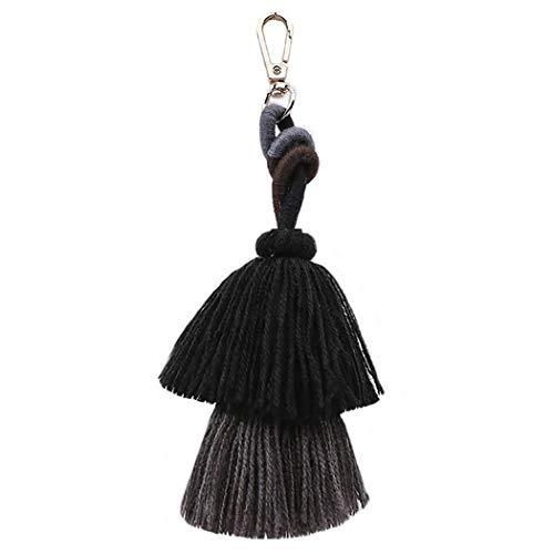 Tassel Keychain Fashion Multipurpose Key Ring Pendant Pom Pom Tassel Bag - Key Ring Purse Bag