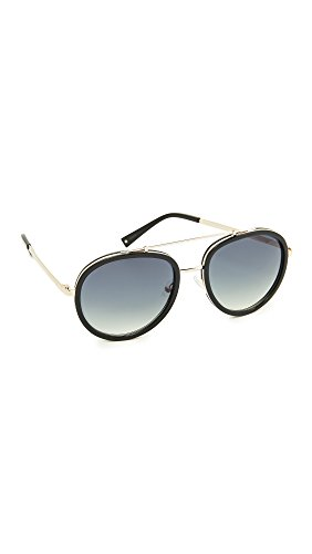 KENDALL + KYLIE Women's Jules Aviator Sunglasses, Black/Smoke, One - Kendall Sunglasses Kylie And