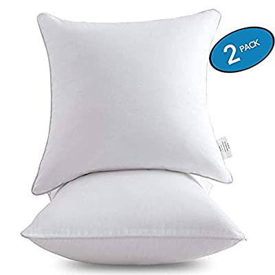 MoMA Pillow Inserts - Throw Pillow Inserts with 100% Cotton Cover - Square Interior Sofa Pillow Inserts