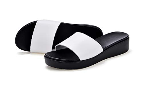 prape en white des Flip Surface Respirant Flops Femelle Été Sandales Chaussons Cuir 1T1SBUq