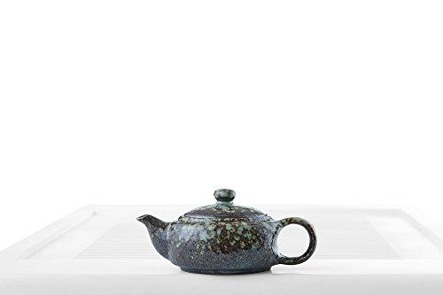 Ceramic Teapot Kettle Porcelain Tea Pot Metallic Glaze Chinese Teaware Pottery (dark purple, pale blue)
