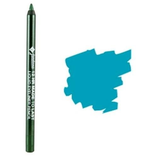 JORDANA 12 Hr Made To Last Liquid Eye Liner - Aqua Stone (Best Blue Liquid Eyeliner)