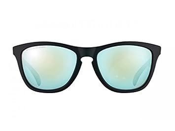 Oakley gafas de sol Frogskins negro mate - lente polarizada Iridium esmeralda **PVP £