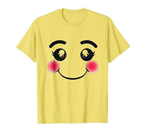 Halloween Emojis Costume Shirt Blushing Smiling Emoticon ()