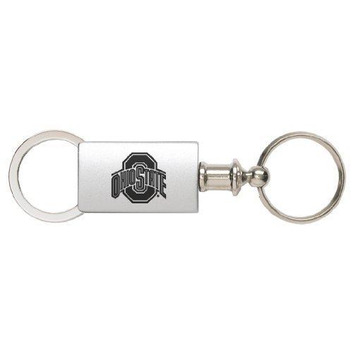 Ohio State University – eloxiertes Aluminium Valet Schlüssel Tag – Silber von Lxg, Inc.