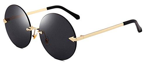 604fe94213 GAMT Oversized Arrow Rimless Round Sunglasses for Men and Women Frameless  Eyeglasses - Buy Online in UAE.