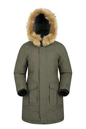 Mountain Warehouse Aurora Womens Down Winter Jacket - Waterproof Khaki 4