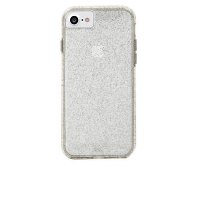 Case-Mate iPhone 8 Case - NAKED TOUGH - Sparkle Effect - Slim Protective Design - Apple iPhone 8 - Sheer Glam