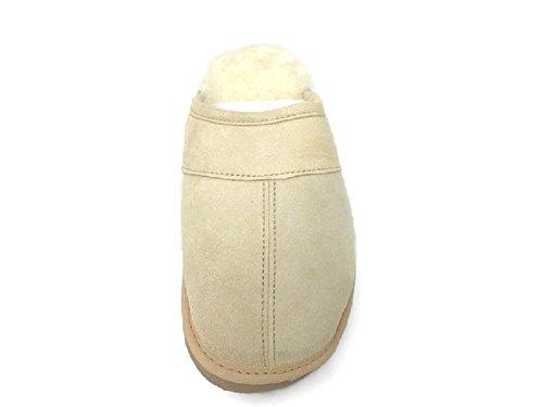 Australian Scuff on Loafers Sandals Tan Hut Mens Slip Slipper Medium Premium Genuine Slippers Sheepskin vwIT6wqYf