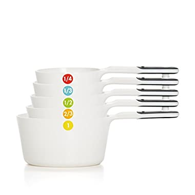 OXO Good Grips Plastic Measuring Cups, 6-Piece, White