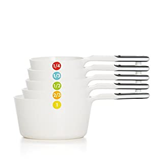 OXO 11111102 Good Grips Plastic Measuring Cups, 6-Piece, White,1EA