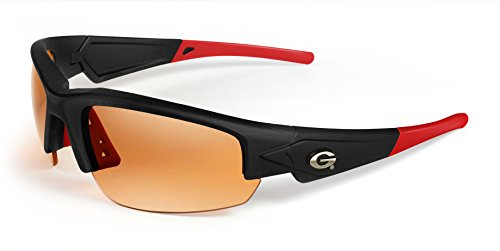Georgia Bulldogs Sunglasses - Dynasty 2.0 Black with Red Tips