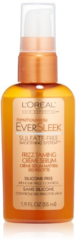 Smoothing System Styling Creme (L'Oreal Paris EverSleek Sulfate-Free Smoothing System Frizz Taming Creme Serum, 1.9 Fluid Ounce Pack of 1)